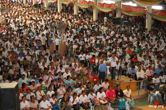 In February of 2011, members of the Church of God International welcomed more than 3,500 new members in one of its Mass Baptisms.