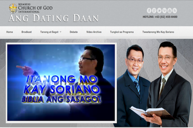ang dating daan tagalog Ang dating daan (tagalog for the old path) is a religious radio and television program in the philippines produced by the members of the church of god international it is primarily hosted by eli soriano in portugal and brazil, it is broadcast as o caminho antigo which is a direct translation for the old path.