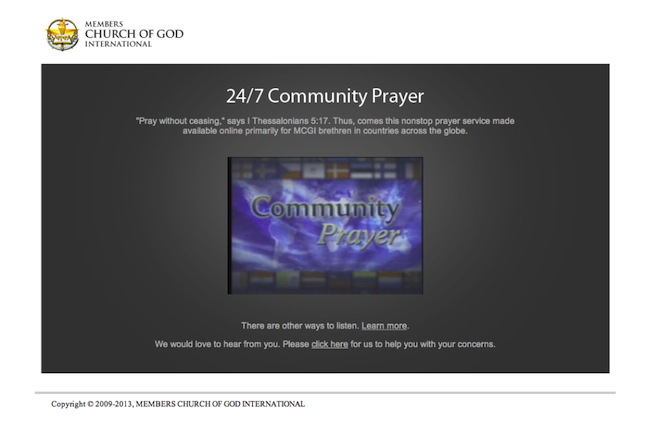 ang dating daan community prayer website