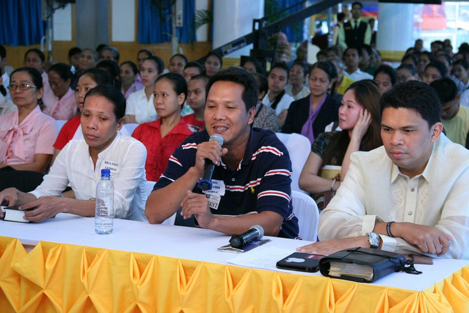 Participants of a Bible Exposition at the ADD Convention Center in Apalit, Pampanga in 2012.