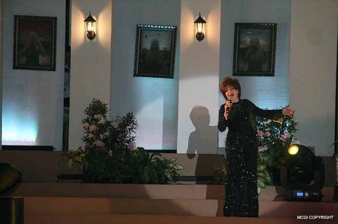 Ms. Pilita Corrales croons classic Filipino songs for the benefit event.