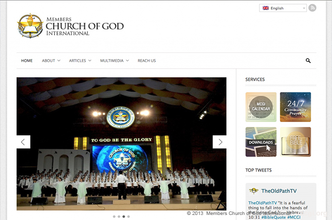 Members Church of God International website now for mobile users.