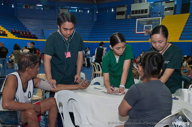 Malate, Manila was one of the locations of the medical mission, where MCGI members volunteered to render free service.