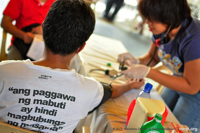 MCGI's quarterly Mass Blood Donation drive in September 2013 yields over 1,600 bags of blood in their effort to do good to their fellowmen as mentioned in Galatians 6:10.