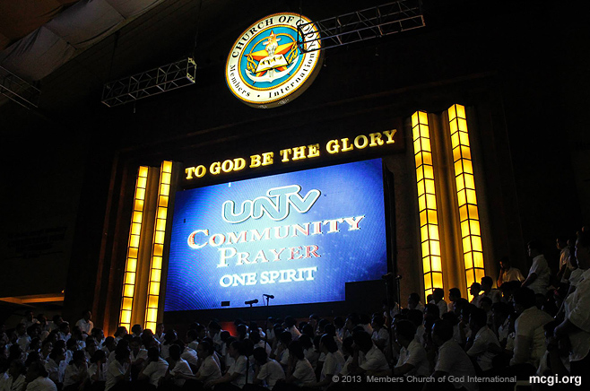 People can now tune in to the MCGI-hosted UNTV Community Prayer, five times a day to pray. (Photo by Prince Medina Marquez, Photoville International)