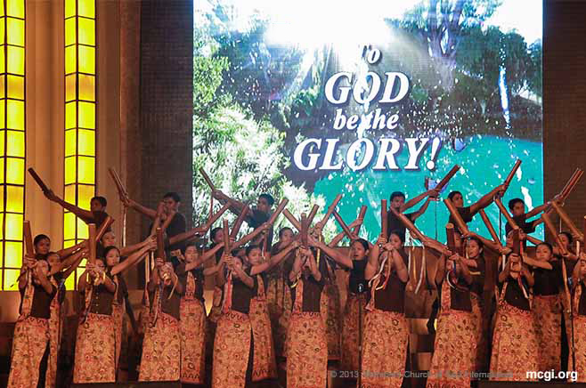With new songs of praise, chorale groups Church-wide presented their song and dance numbers during the 13th Annual International Music Summit.