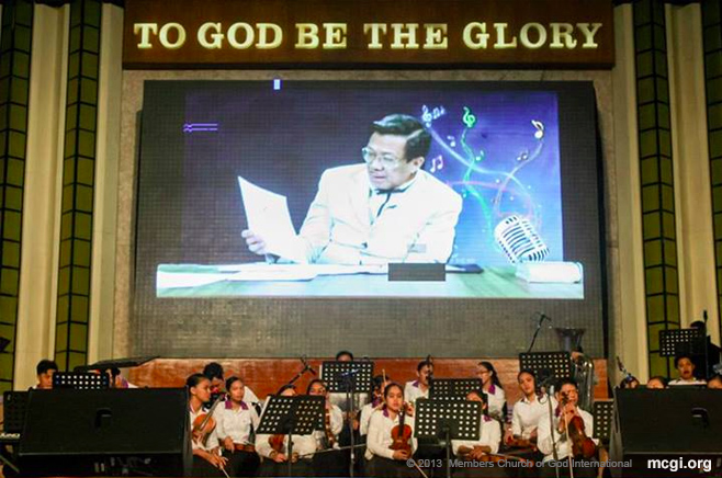 Bro. Eliseo Soriano judged the ASOP Music Festival on December 24, 2013.