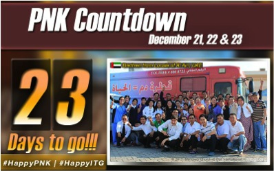 The International Thanksgiving (Thanksgiving of the Body) countdown photo includes the number of days remaining before the International Thanksgiving together with a photo of the brethren from key MCGI chapters around the world.
