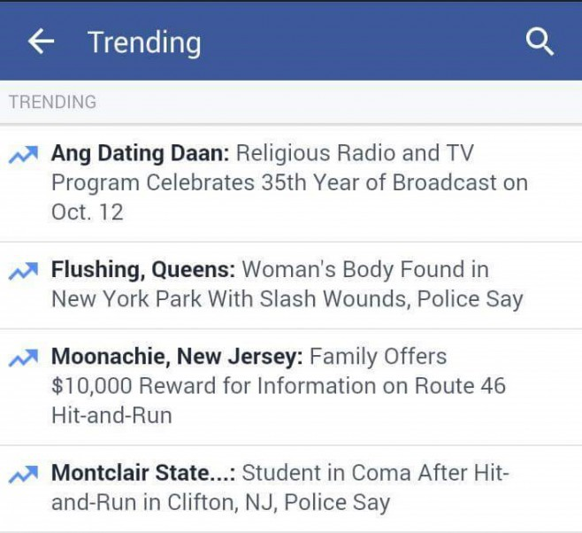 Ang Dating Daan and its record-breaking feat trended on Facebook on October. 12, 2015.