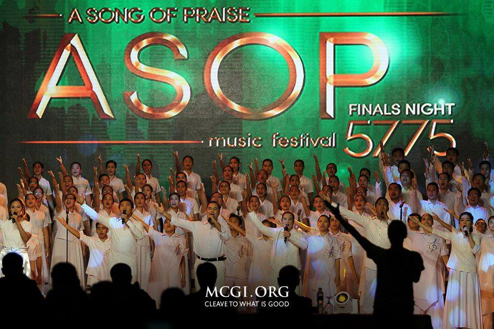 ASOP Year-End finalists and interpreters perform a lively opening number during the praise song competition's grand finals night held on July 3, 2016. (MCGI-Photoville International / Christian Diversion)