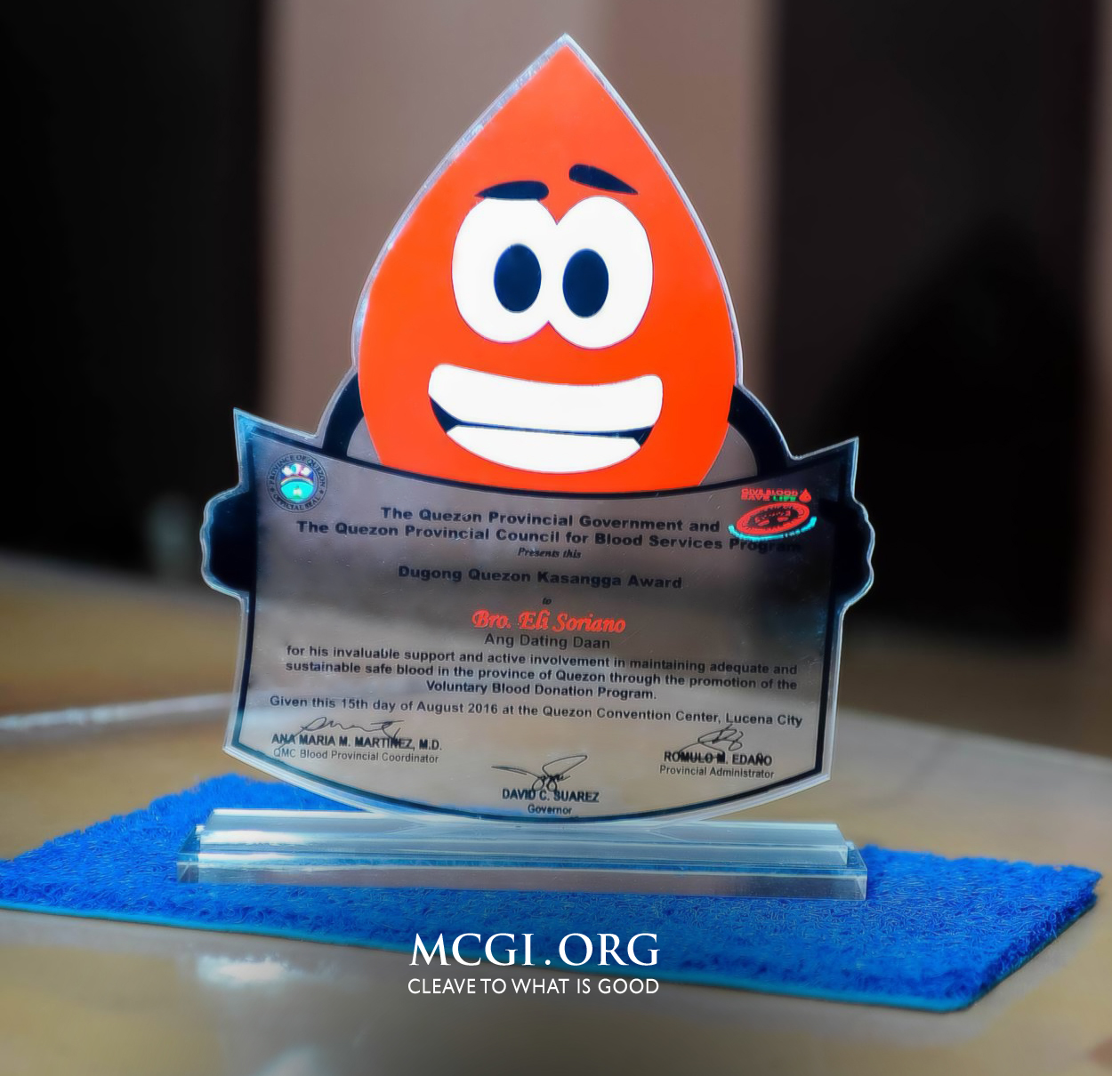 MCGI's Mass Blood Drive Advocacy Honored in First Dugong Quezon Awards