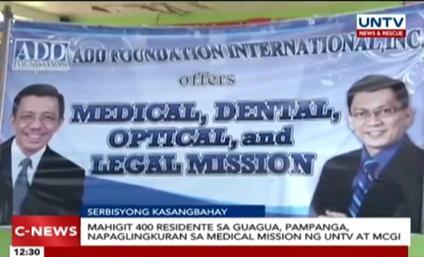 MCGI and UNTV Medical Outreach: More than 400 in Guagua, Pampanga Benefitted