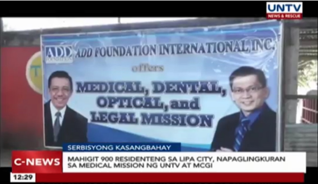 MCGI and UNTV Hold Medical Outreach Program for More than 900 Residents in Lipa City, Batangas