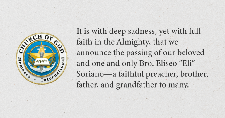 Bro. Eli Soriano Rests - Official Statement of the Members Church of God International