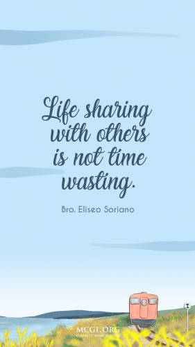 Life Sharing With Others Is Not Time Wasting